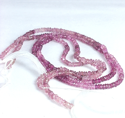 Hand Faceted Pink Tourmaline Disks