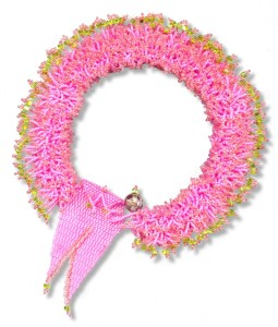 Art Necklace Hot Pink Fuzzy
