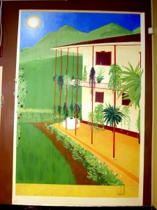 Bread and Chocolate's Mural Painted Summer ©2011 by Patricia C Vener,
