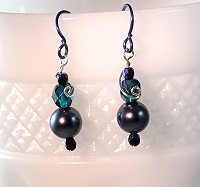 Affordably priced one of a kind beaded earrings