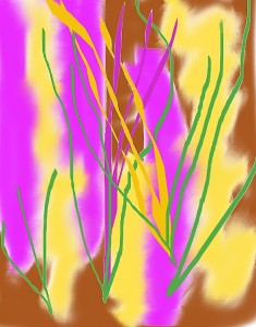 "Digital Painting ""Crocus Inspiration"" by Patricia C Vener © the artist, 2012"
