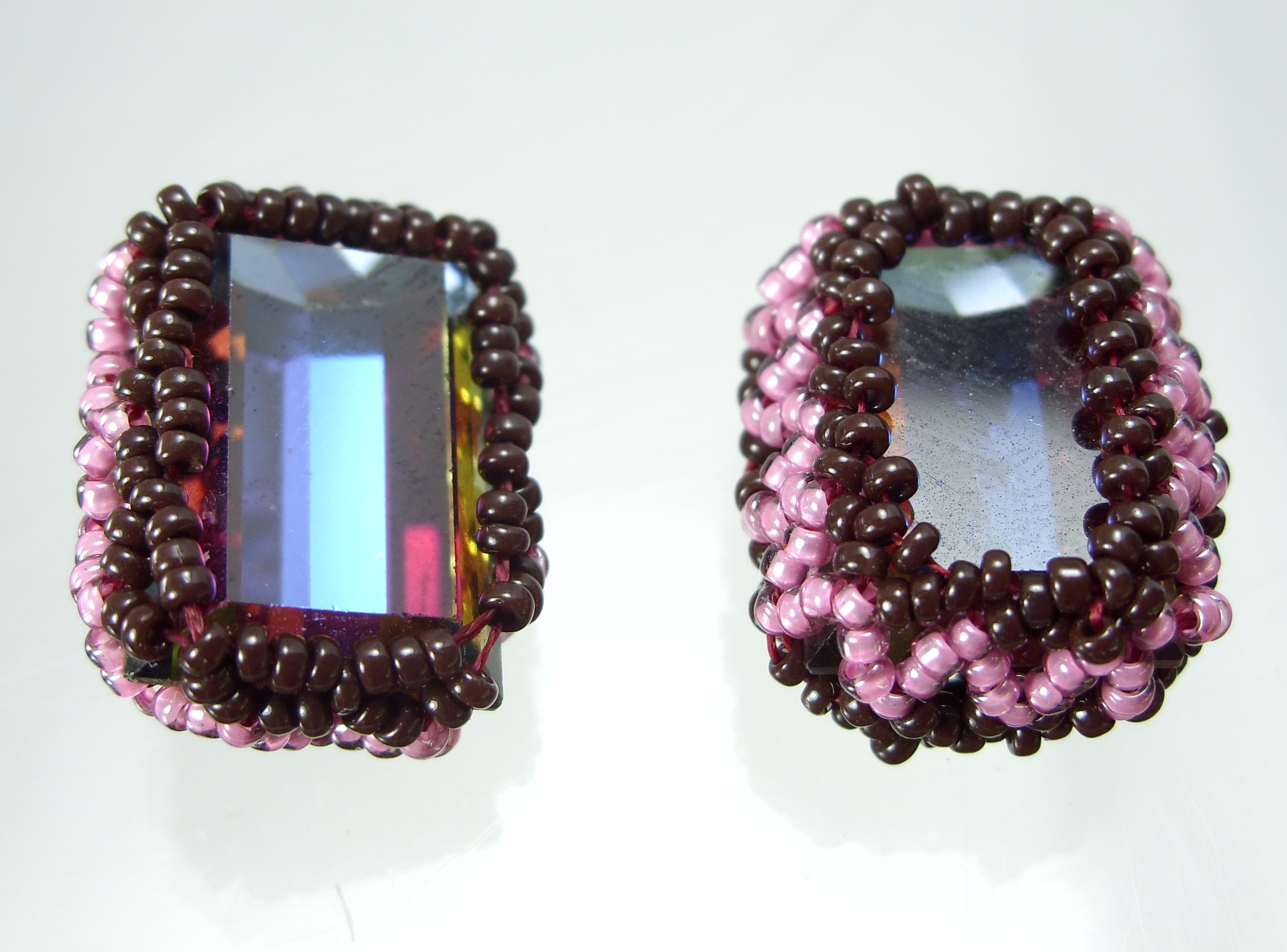beaded bezel for rectangle stones