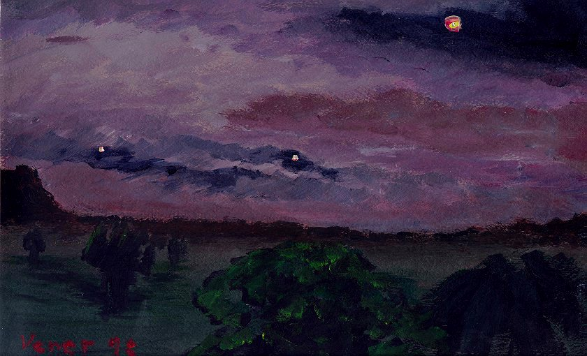 Before the Storm ©1998, Patricia C Vener, acrylic on canvas board