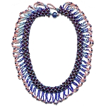 Overnight Success is a colorful bead woven necklace with a romantic story