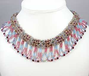 Party Time bead woven necklace dances while you wear it